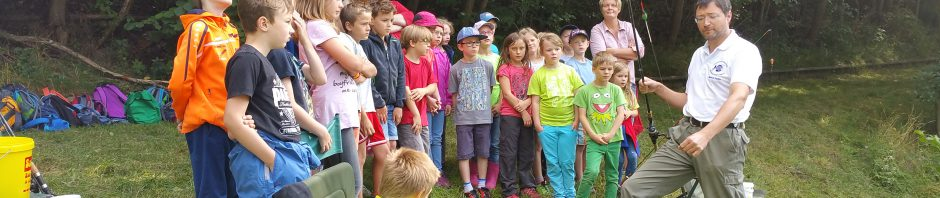 Schnupperangeln am Sündenweiher mit dem Maxi Kinderhort aus Wunsiedel